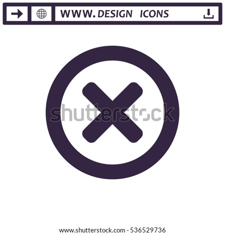 Cross Icon Vector flat design style