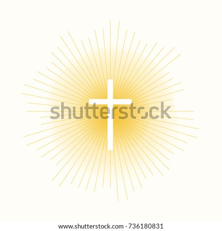 cross in sun lights concept