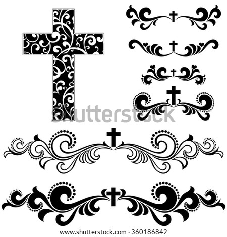 cross isolated on white...