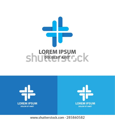 cross logo icon design