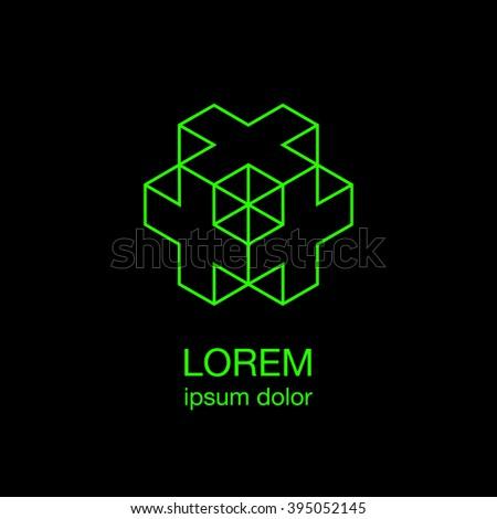 cross minimal logo concept ...