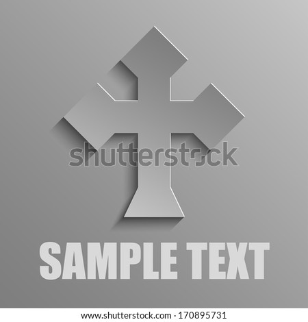 cross on a gray background