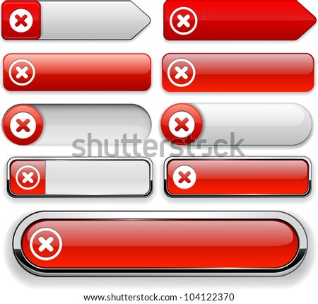 Cross red design elements for website or app. Vector eps10.