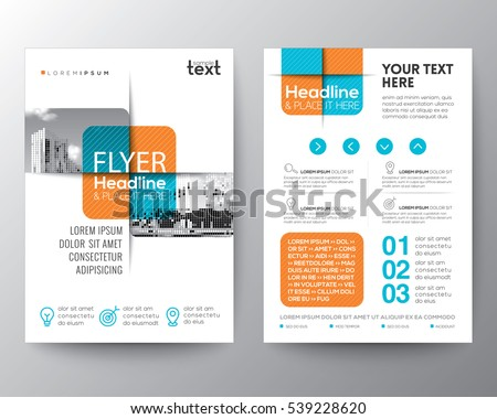 Cross square graphic element Brochure cover Flyer Poster design Layout vector template in A4 size