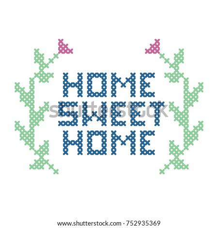 cross stitch home sweet home