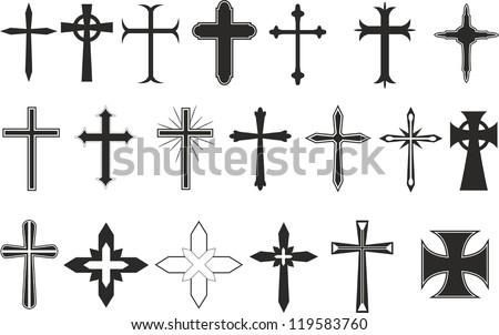 Free Christian Crosses Vector Download Free Vector Art Stock