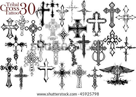 Tattoos Crosses on Crosses Tattoo Designs Cool Cross Tattoo Designs