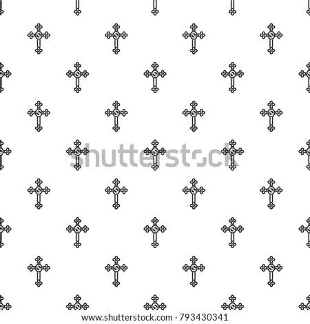 cross with diamonds pattern