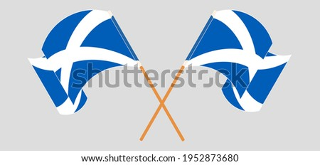 crossed and waving flags of
