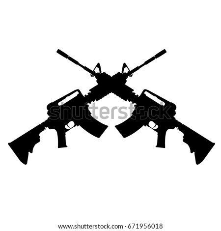 crossed assault rifles