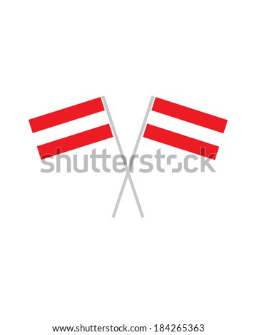 crossed austrian flags   vector