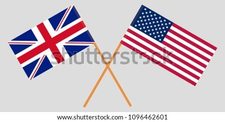 crossed desktop flags united