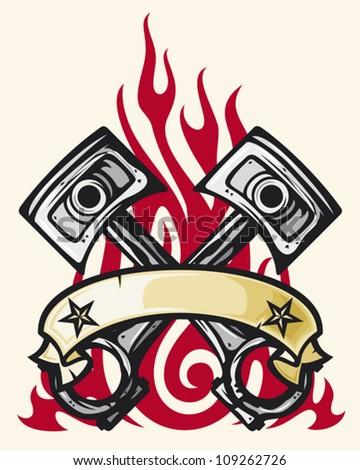 Motor Tattoo Designs Flame tattoo design (two