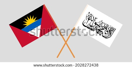 crossed flags of antigua and