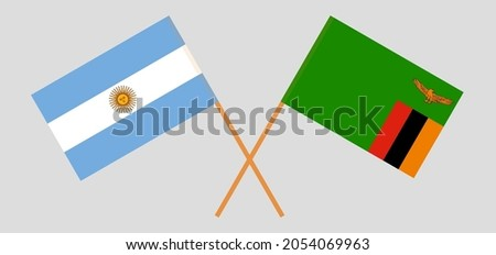 crossed flags of argentina and