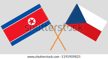 crossed  flags of czech