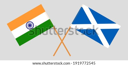 crossed flags of india and