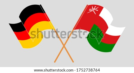 crossed flags of oman and