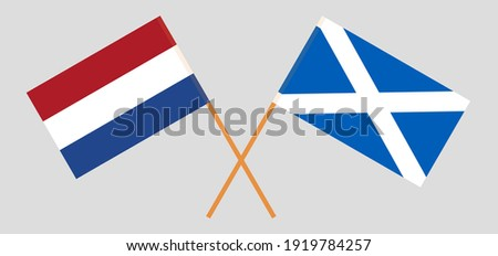 crossed flags of the