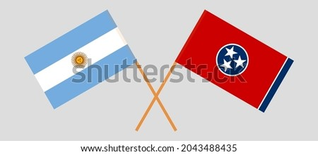crossed flags of the state of