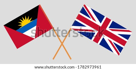 crossed flags of the uk and