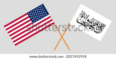 crossed flags of the usa and