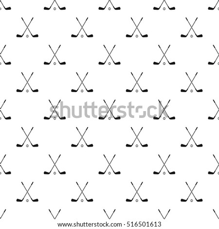 Crossed golf clubs pattern. Simple illustration of crossed golf clubs vector pattern for web