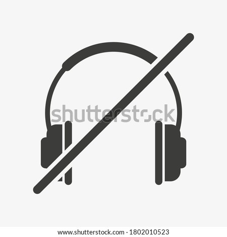 crossed headphones icon