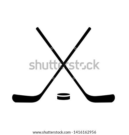 Crossed Ice Hockey Sticks, Hockey Sticks