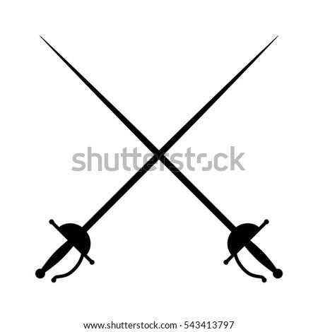crossed rapiers   swords or...
