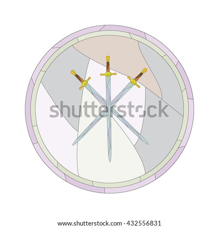 crossed swords on a gray