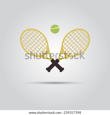 crossed tennis rackets and