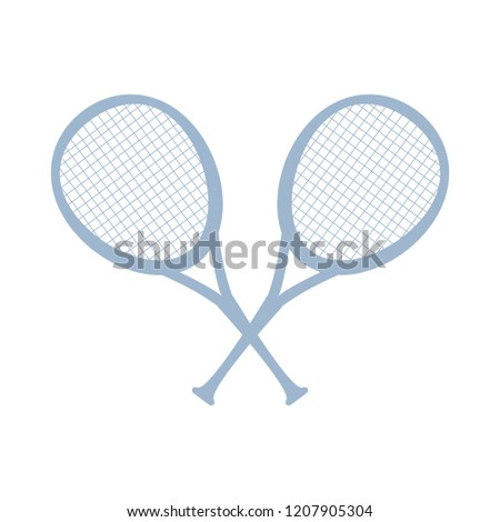 crossed tennis rackets isolated icon