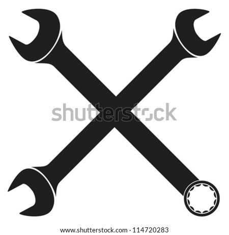 crossed wrenches (spanner)