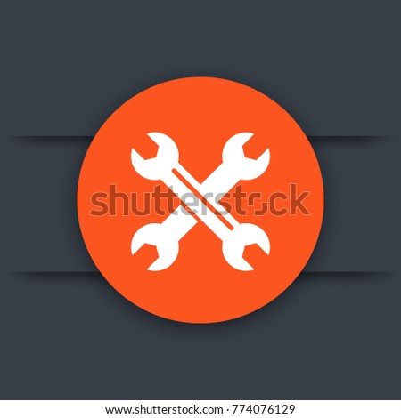 crossed wrenches, tools icon