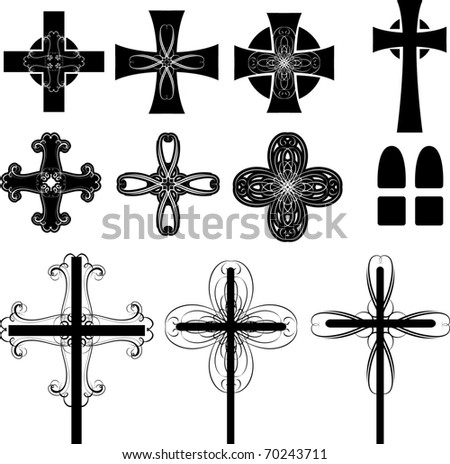 Crosses - stock vector