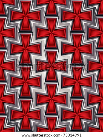 Crosses Seamless Pattern. Medieval Crosses On Metallic Armor
