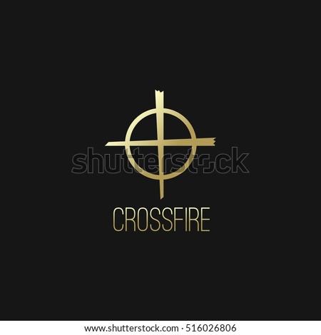 crossfire or shooting target
