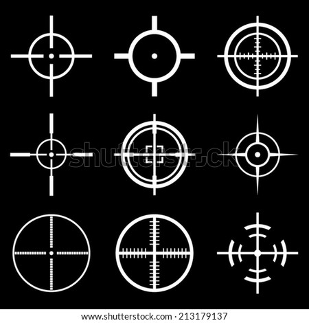 crosshair icons set