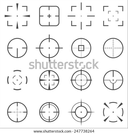 crosshair icons set for