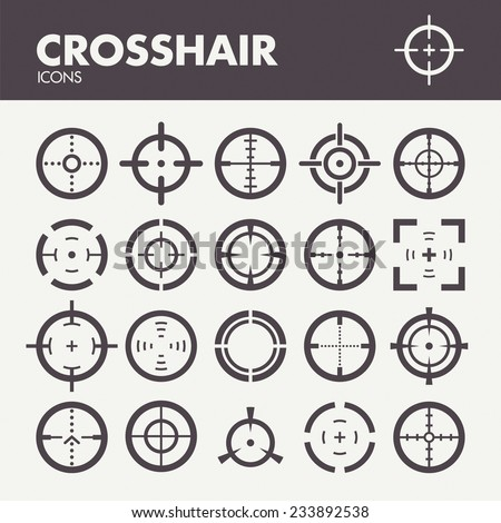 crosshair icons set in vector