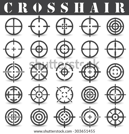 crosshairicons set in vector