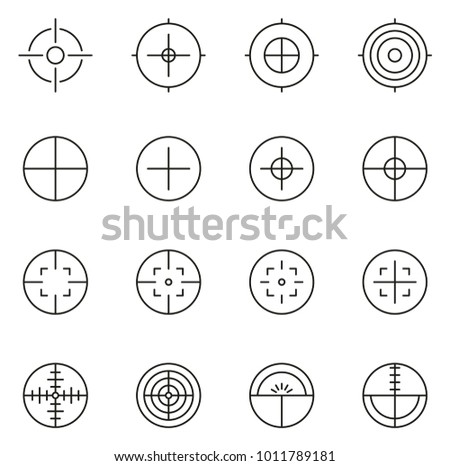 crosshair or sight icons thin