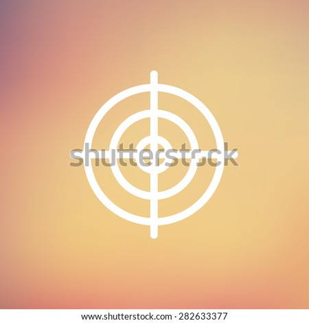 crosshair target icon thin line