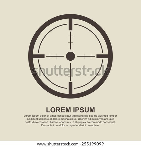 crosshair  target icon   vector