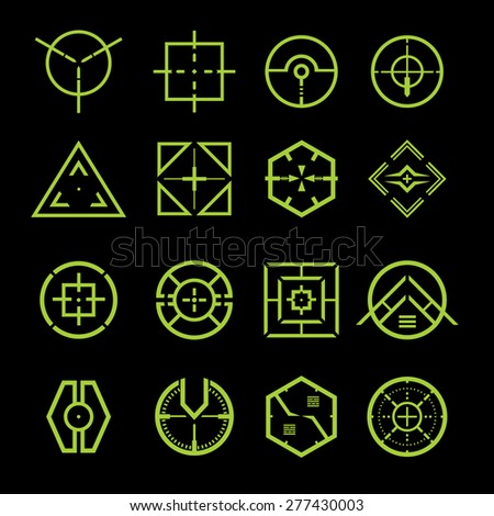 crosshair vector set
