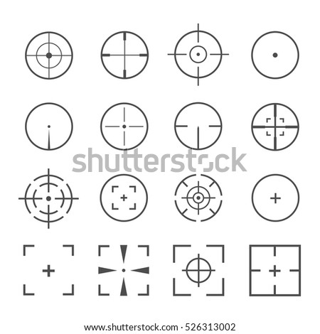 crosshairs icon vector set