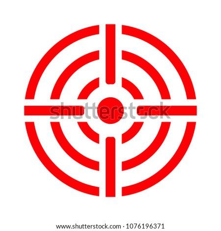 crosshairs icon - vector target aim, sniper symbol - weapon illustration