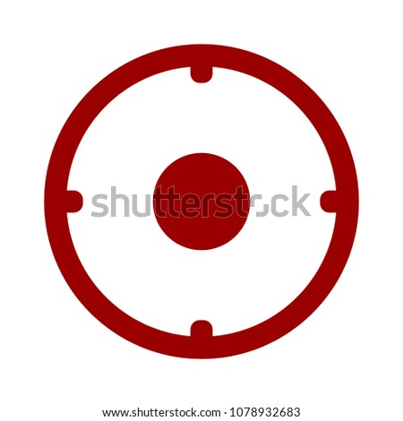 crosshairs icon   vector target