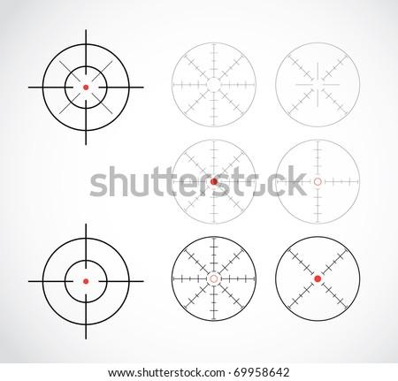 crosshairs set illustration